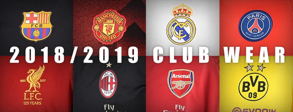 Club Team Wear 2018/2019 / Club Team Wear 2018/2019_1024x393_1のバナーデザイン