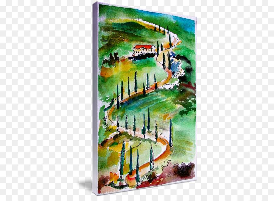 Malerei Von Italien Mit Dorfern Und Toren Lizenzfreie Fotos