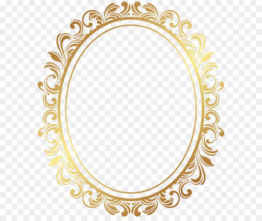 Picture Frame Oval Border Deco Frame Png Clip Art 6935 8000 Transprent Png Free Download