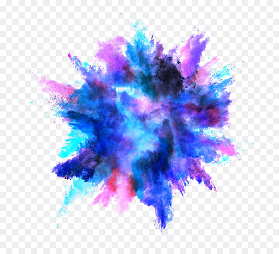 Dark Purple Transparent Paint Splatter