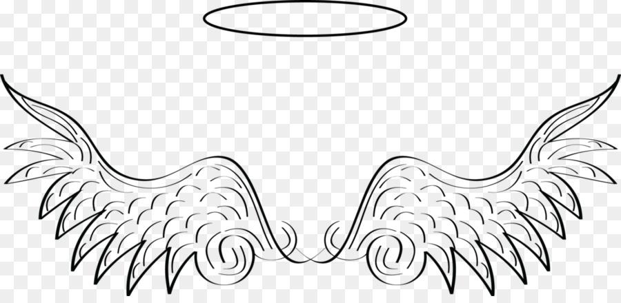 Halo Art Outline Angel Clip