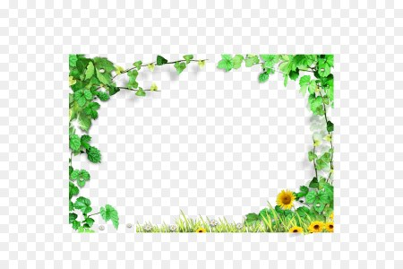 Template   Green leaves frame Green leaves background border png     Template   Green leaves frame Green leaves background border