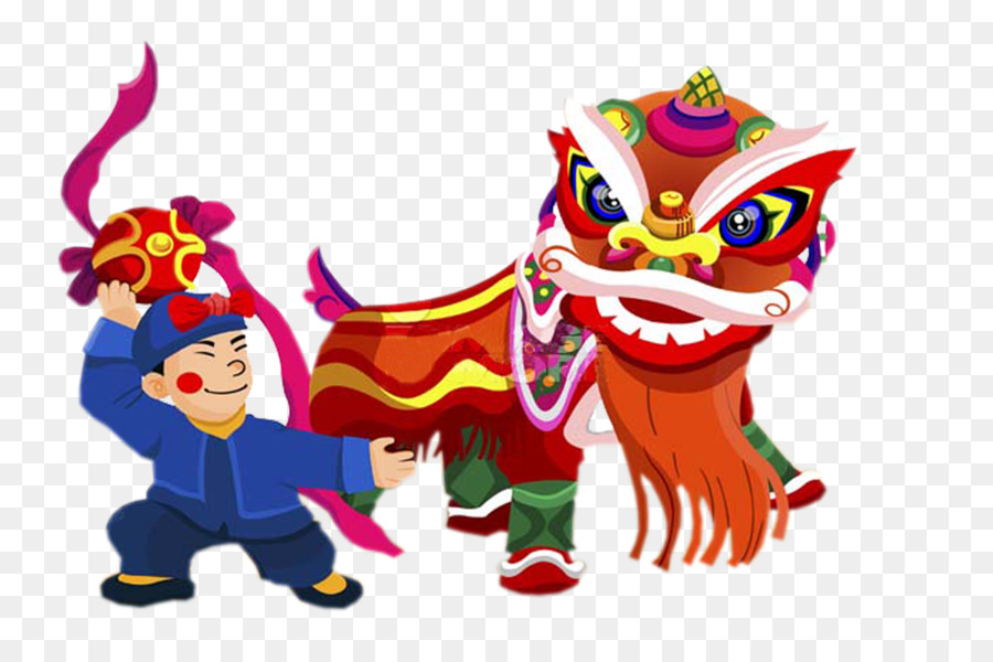 Lion dance Performance Chinese New Year Traditional Chinese holidays     Lion dance Performance Chinese New Year Traditional Chinese holidays Dragon  dance   Cartoon lion dance festivals elements