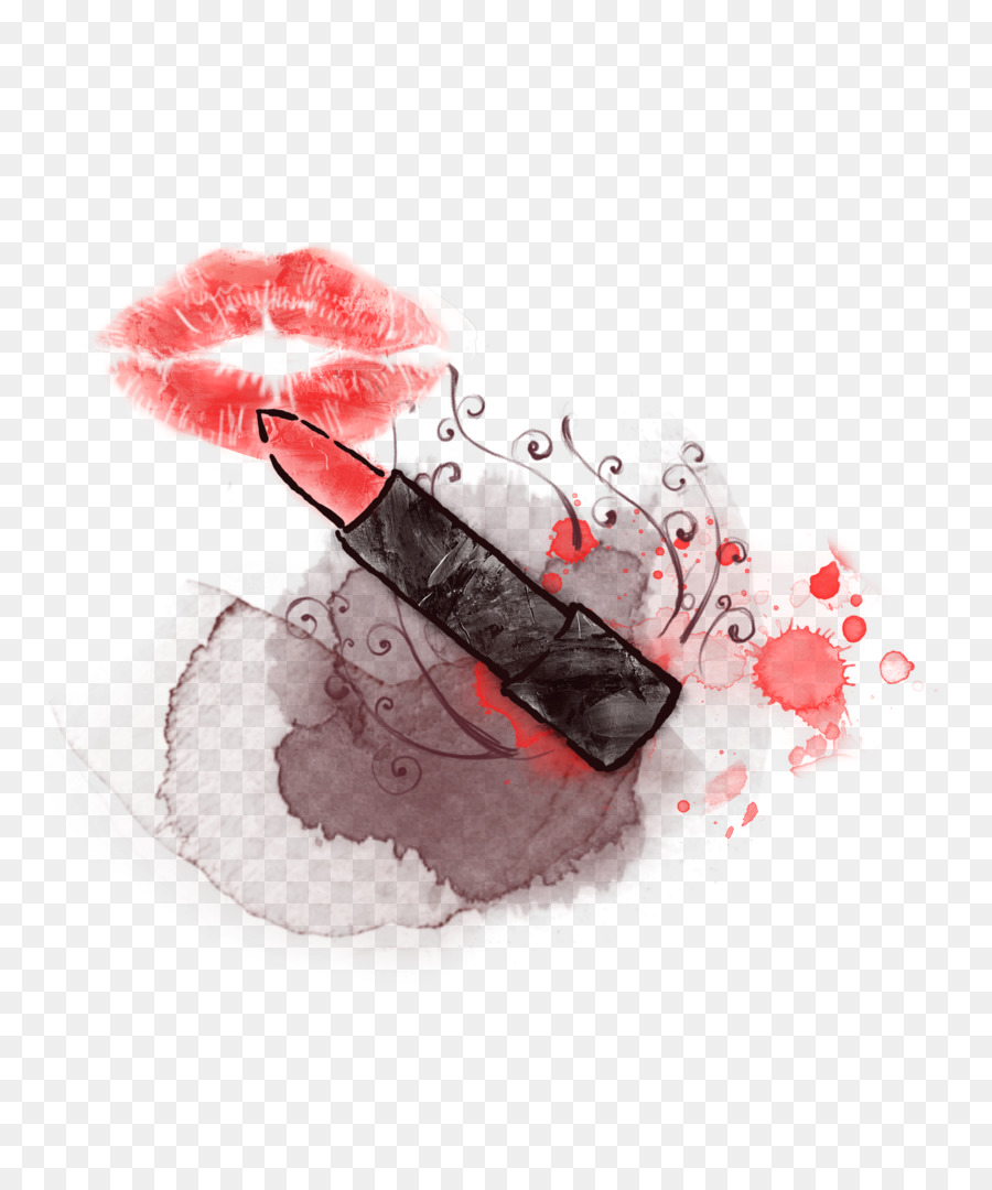 Make up Lipstick   Creative makeup lipstick painted background png     Make up Lipstick   Creative makeup lipstick painted background