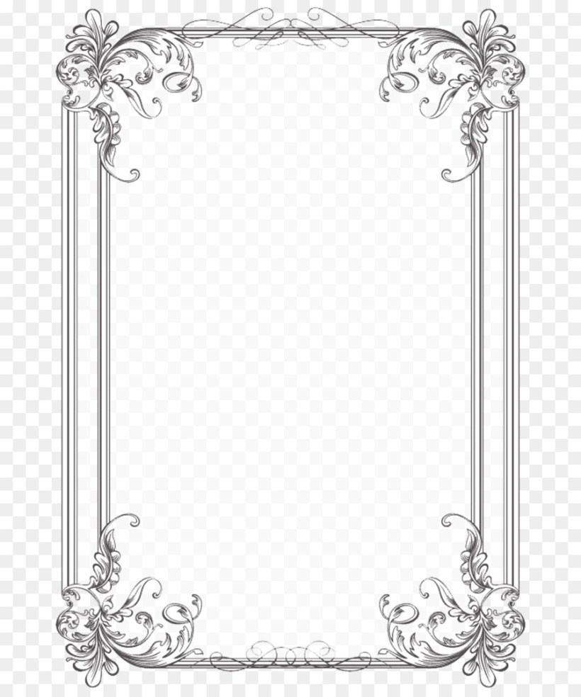 Borders And Frames Wedding Invitation Picture Frame Line Art Png