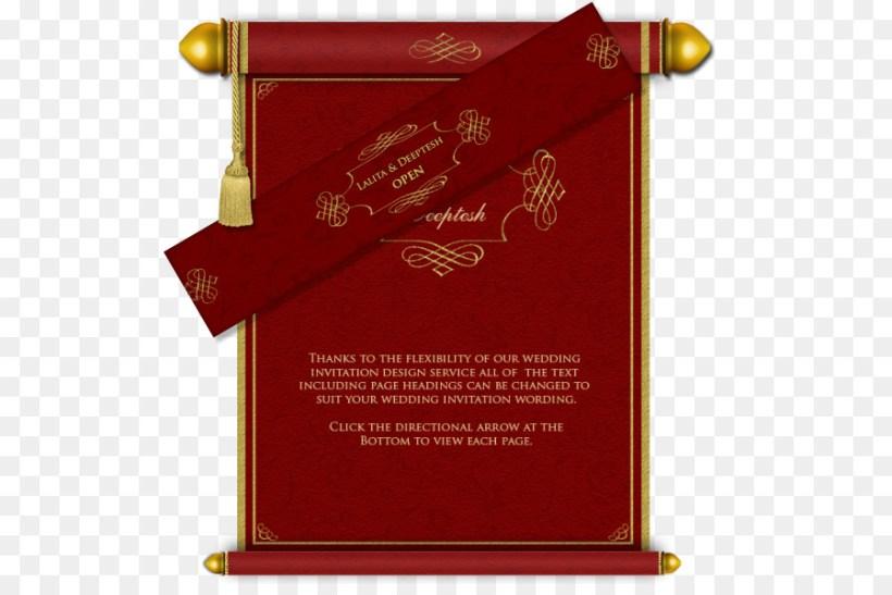 Wedding Invitation Business Card Design Hindu Text Scroll Png