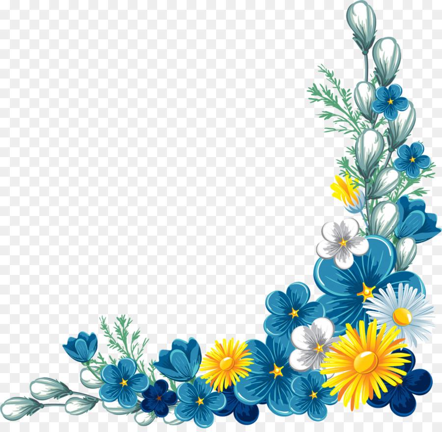 Flower Picture Frames Clip Art Corner Flower Png
