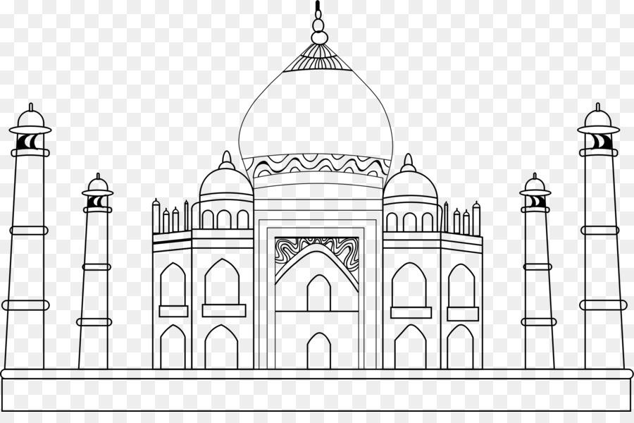Taj Mahal Drawing Clip Art Taj Mahal 2317 1503 Transprent Png Free Download Symmetry