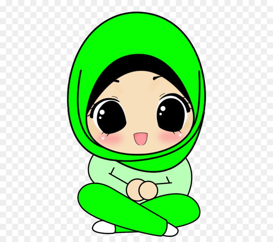 Hijab Cartoon Drawing Animation Islam Background Backdrop Halal Bi