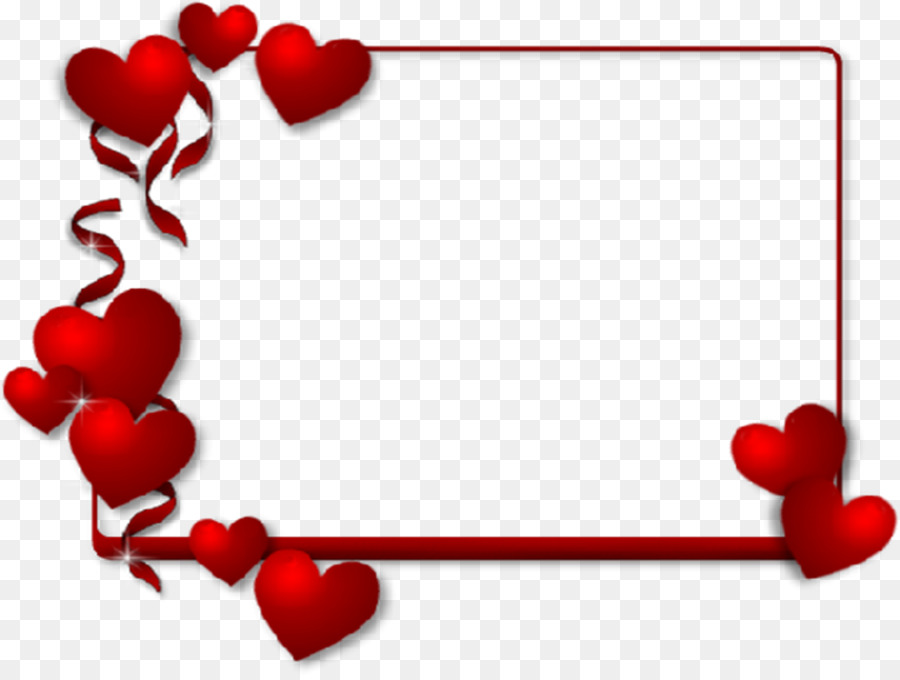 Valentines Day Picture Frames Heart Paper Clip Art
