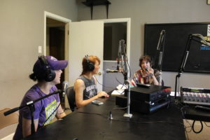 Guests Sally Mengel of Loblolly Creamery and Sara Slimp of Chunky Dunk with Kerry McCoy on Septeber 23, 2016. They talked about starting your own business, food trucks, accounting aspects and how to ask for help among other topics.