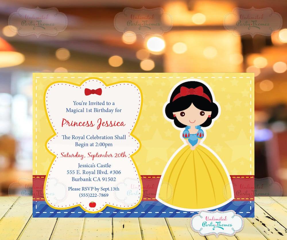 Snow White Birthday Invitation Bannerpanda