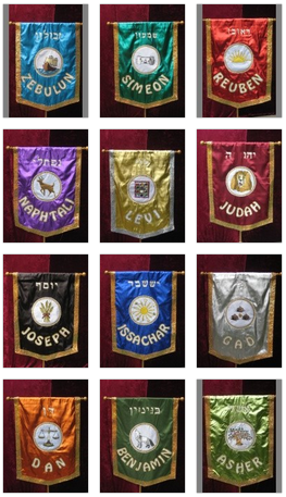Marvelous Banners Of The 12 Tribes