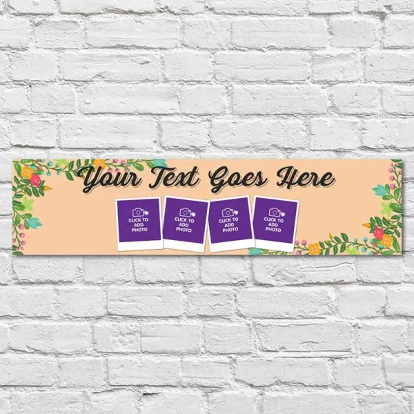 Personalised Debs Banner with photos and a light floral background