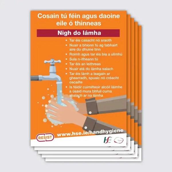 Covid 19 Hand Hygiene Poster Irish