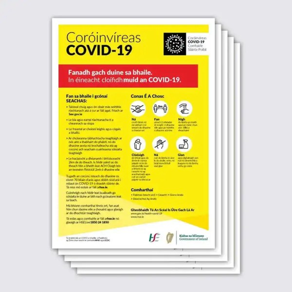 Covid 19 Stay at Home Poster Irish