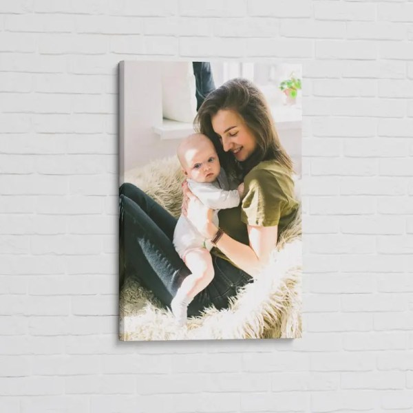 Personalised Canvas Print with an image upload feature