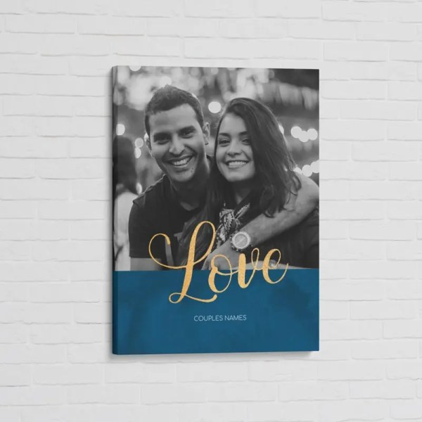 Personalised Canvas Print with personalised image and text