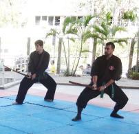Artur e Robson treinando Bujinkan Budo Taijutsu