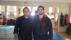 Pedro Henrique Shidoshi with his teacher in 2012, Rio de Janeiro.