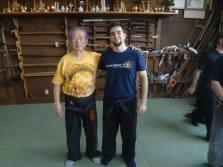 Me & Hatsumi Sensei after class at Bujinkan Hombu Dojo (Bujinden). 2013.