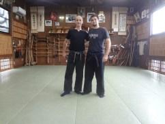 Marcelo Ramirez Shihan at Bujinkan Hombu Dojo, 2013. Japan.