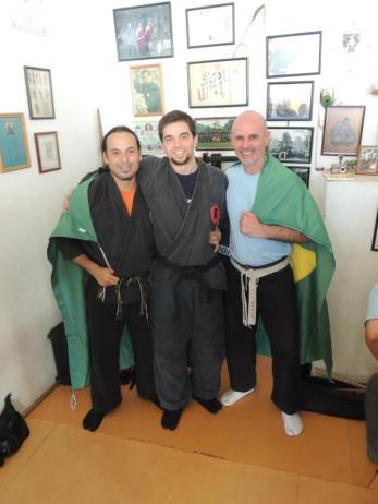 My teacher Miguel Greg Shidoshi, and Daniel Hernández Shihan, 2012. Rio de Janeiro, Brazil.