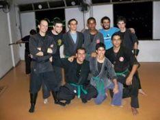 Victor Passos Shidoshi-Ho and his students, 2012. Rio de Janeiro, Brazil.