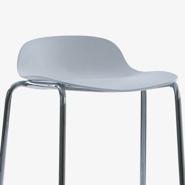 manacor stapelbar barstol svart vit