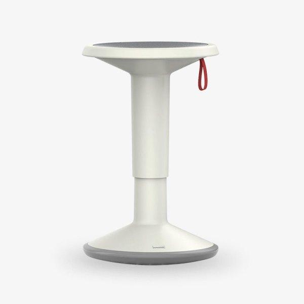 upis1 gråvit höjbar sänkbar pall kontorsmöbler
