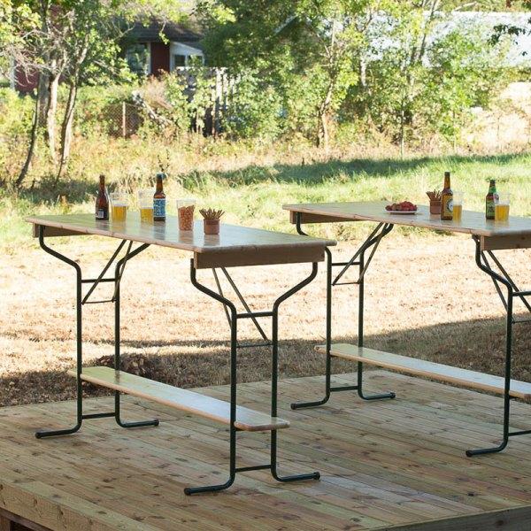ståbord festivalbord barbord fest event fällbart bord furu