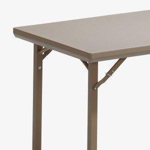 fällbord fällbart bord plast utomhus brun stålstativ