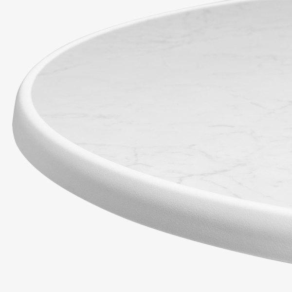 bordskivor, runda, vit, rund