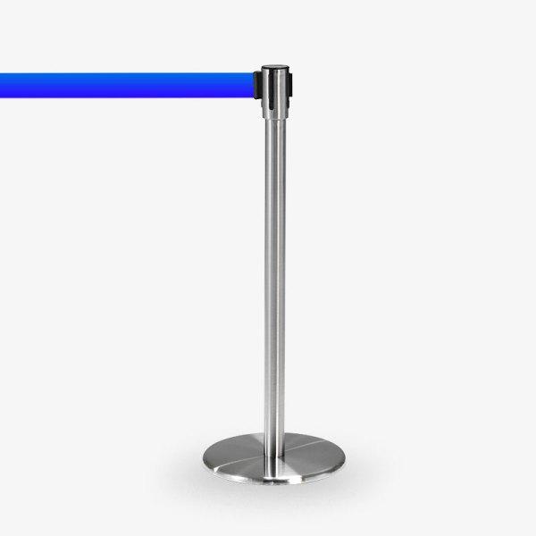avspärrningsstolpe Köstolpe Royal Rostfritt Blått band - Ej stapelbar - Stol