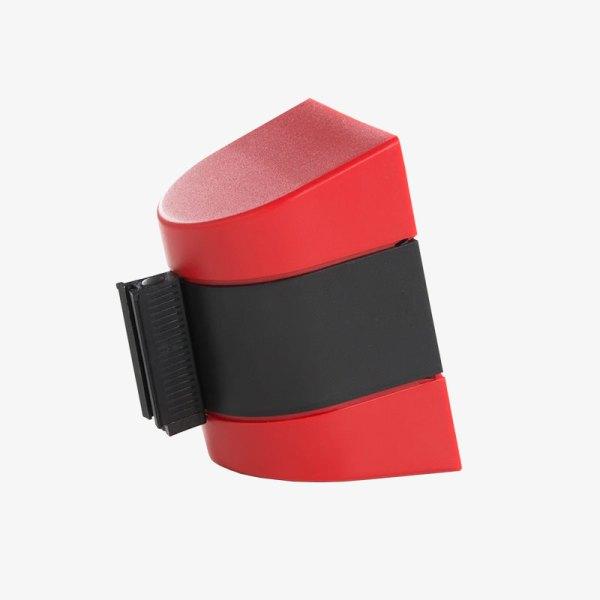 Väggkassett Plast - Svart platsskal, rött band - Band