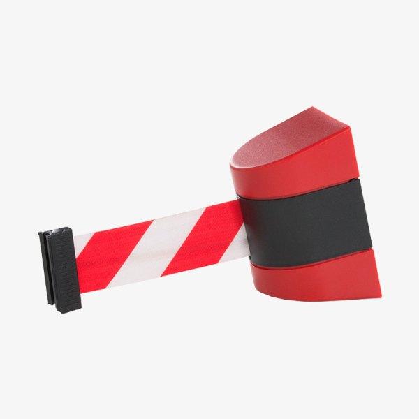 Väggkassett Plast - Svart platsskal, rödvit band - Band