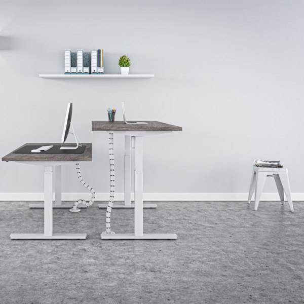 höj sänkbart skrivbord vitt stativ