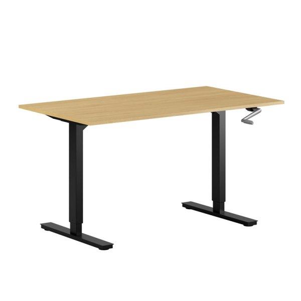 höj sänkbart skrivbord med vev