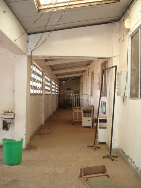 the old, dark corridor of the children's ward