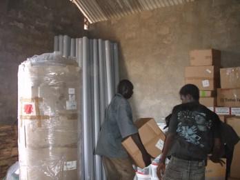 Equipment arriving in Bansang