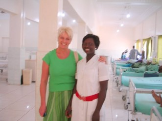 Anita & nurse Elizabeth on the new ward
