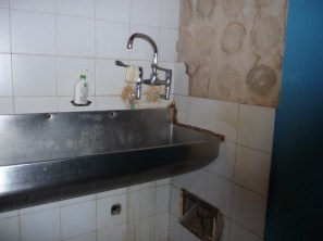 Surgeons scrub sink - delapidated!