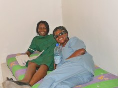 Staff relaxing in one of the new accommodation units