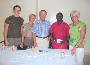 Friends of the BHA; Laurence, Mathilde & Dr Theo Keller, CEO Mr Jammeh & Anita