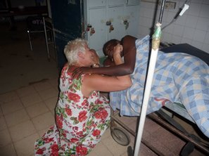 With only one theatre, this lady had to wait to be operated on - despite being an emergency