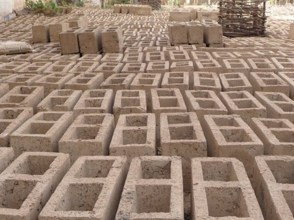 All bricks for the project are hand made on site - by the hospital's maintenance team