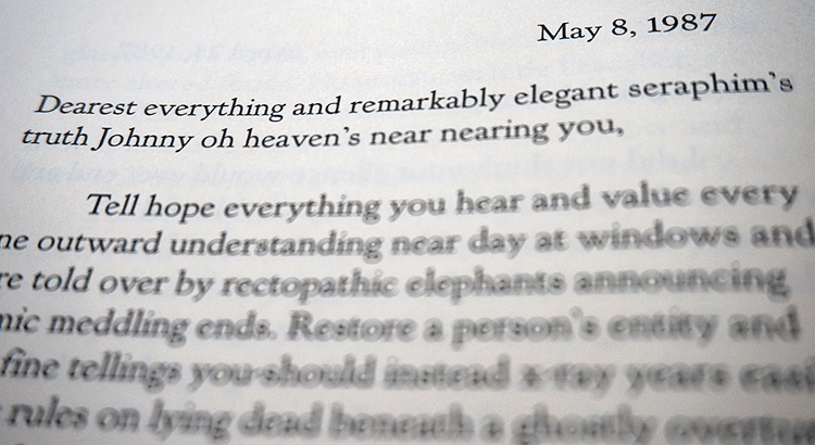 House of Leaves: Appendix II-E, The Three Attic Whalestoe Institute Letters (May 8th, 1987)