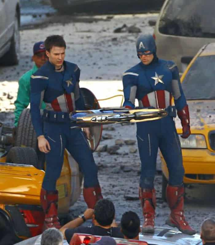 Character: Captain America; Actor: Chris Evans, Stunt Double: Sam Hargrave