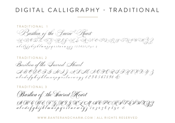 Wedding Stationery Guide Fonts Part I