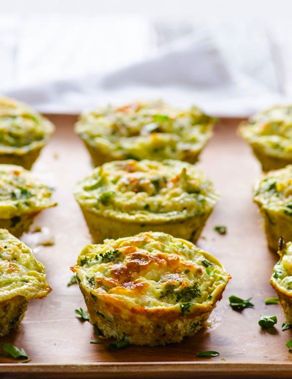 Broccoli and Cheese Egg Miffins